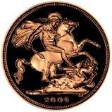 2004 Gold Full Sovereign Elizabeth II Proof w/o Box w/o Cert Reverse