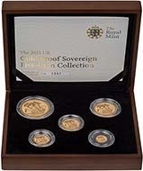 2011 5-Coin Gold Proof Sovereign Set Presentation Box