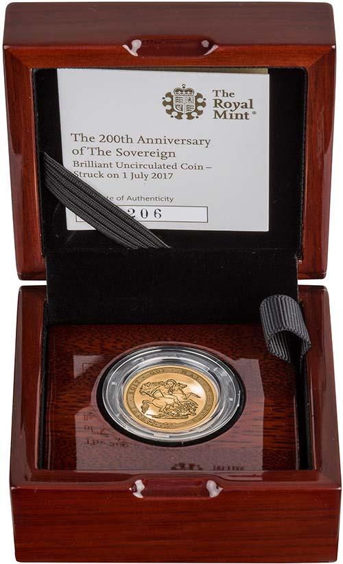 2017 Gold Sovereign BU 200th Anniversary - Strike on the Day 21869