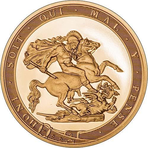 2017 Gold Sovereign Piedfort Proof 200th Anniversary Design Reverse