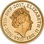 2017 Gold Sovereign Piedfort Proof 200th Anniversary Design Obverse