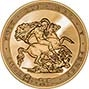 2017 UK Coin £5 / Crown Gold BU 200th Anniversary Sovereign Design 25264