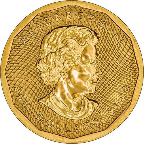 2008 1 oz Gold Coin Maple 99.999 Bullion 22079
