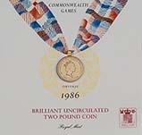 1986 UK Coin £2 BU Commonwealth Games 23712
