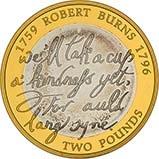 2009 UK Coin £2 Grade C Silver Proof Robert Burns 20900