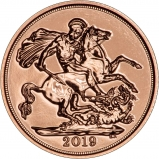 2019 Gold Sovereign Bullion Reverse