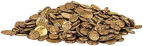 4x Gold India Fanam 21668