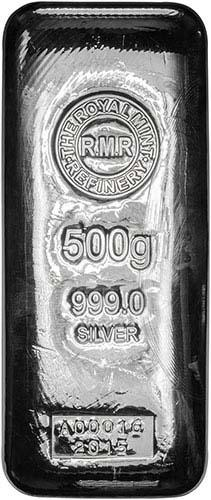 500g Silver Bar Royal Mint Pre-Owned 25079