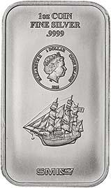 2015 1 oz Silver Coin Bar Cook Islands One (1) Dollar 23256