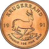 1991 1 oz Gold Coin Krugerrand Bullion 22246