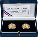 1996 Ladies of Freedom Gold Proof 2 Coin Set  22027