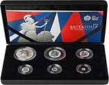 2016 Whole Coin Set Britannia Silver Proof - 6 Coins 23503