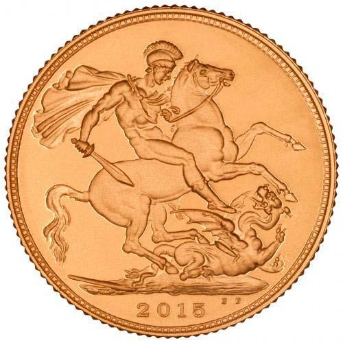 2015 Gold Full Sovereign Elizabeth II Proof Fifth Portrait 21025