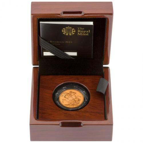 2015 Gold Full Sovereign Elizabeth II Proof Fourth Portrait Box