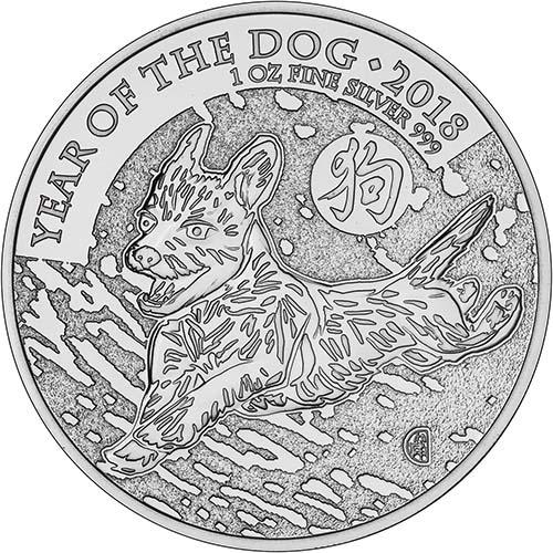 2018 1 oz Silver Monster Box Year of the Dog Royal Mint - 100 Coins Bullion 20806