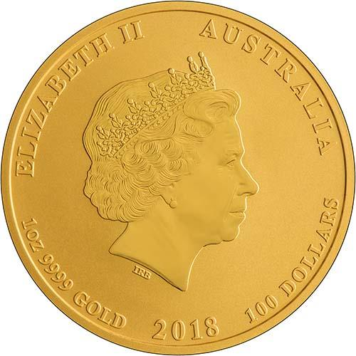 2018 1 oz Gold Coin Lunar Year of the Dog Perth Mint Bullion 24977