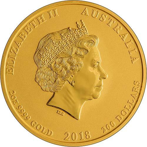 2018 2 oz Gold Coin Lunar Year of the Dog Perth Mint Bullion 21738