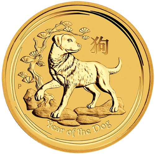 2018 10 oz Gold Coin Lunar Year of the Dog Perth Mint Bullion 20949