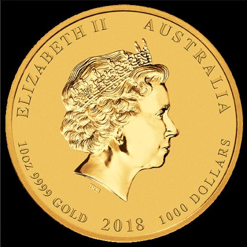 2018 10 oz Gold Coin Lunar Year of the Dog Perth Mint Bullion 20948