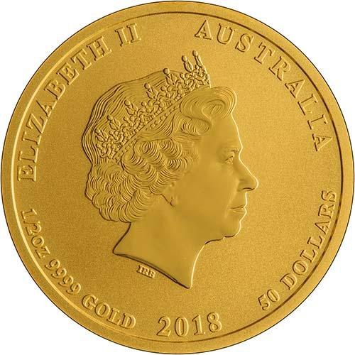 2018 0.5 oz Gold Coin Lunar Year of the Dog Perth Mint Bullion 23353