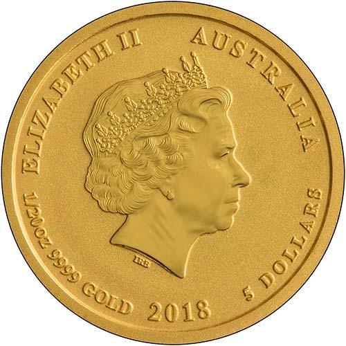 2018 0.05 oz Gold Coin Lunar Year of the Dog Perth Mint Bullion 24658