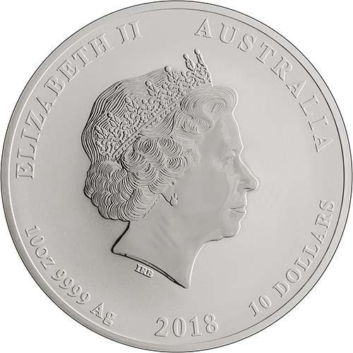 2018 10 oz Silver Coin Lunar Year of the Dog Perth Mint Bullion 23729