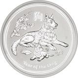 2018 5 oz Silver Coin Lunar Year of the Dog Perth Mint Bullion 21285