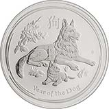 2018 2 oz Silver Coin Lunar Year of the Dog Perth Mint Bullion 22756