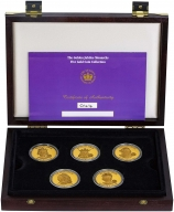 The Golden Jubilee Monarchs Five Gold Coin Collection Presentation Box