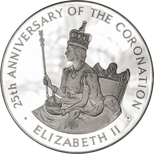 1978 Silver Jamaica Twenty Five Dollars ($25) Silver Proof Coronation Anniversary 22989