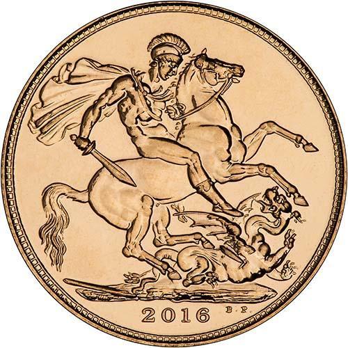 2016 Gold Full Sovereign Elizabeth II Bullion