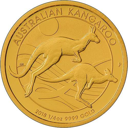 2018 0.25 oz Gold Coin Kangaroo Nugget Perth Mint Bullion 22251