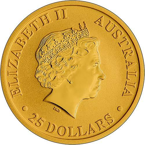 2018 0.25 oz Gold Coin Kangaroo Nugget Perth Mint Bullion 22252