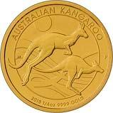 2018 0.25 oz Gold Coin Kangaroo Nugget Perth Mint Bullion 22251