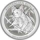 2018 1 oz Silver Coin Koala Perth Mint Bullion 22302
