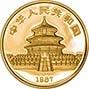 1987 0.25 oz Gold Coin Panda Bullion 23187