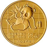 1989 0.25 oz Gold Coin Panda Bullion 22087
