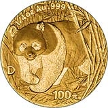 2001 0.25 oz Gold Coin Panda Bullion 20845