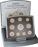 2001 Whole Coin Set UK Annual Proof - Executive 21783