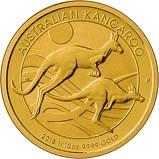 2018 0.1 oz Gold Coin Kangaroo Nugget Perth Mint Bullion 23245