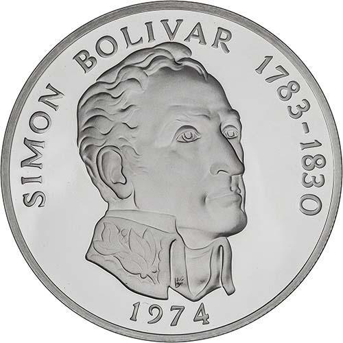 1974 Silver Panama 20 Balboas Proof 21569