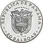 1974 Silver Panama 20 Balboas Proof 21570
