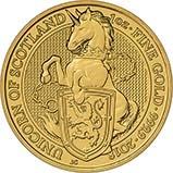 2018 1 oz Gold Coin Queen's Beasts  Bullion Unicorn of Scotland 24507