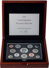 2007 Whole Coin Set UK Annual Proof - Executive 21379