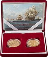 2005 UK Coin £5 / Crown Gold Proof Nelson & Trafalgar - 2 Coins 23422