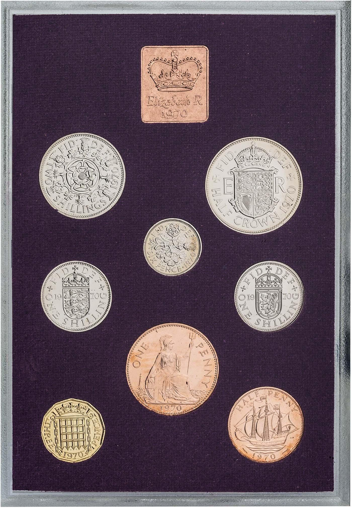 Great Britain 1970 Proof Set Medallion~We Have Other Years~Free Shipping