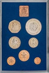 1972 Whole Coin Set UK Annual Proof - Standard 24416
