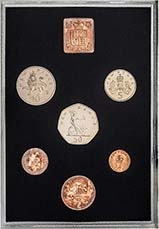 1976 Whole Coin Set UK Annual Proof - Standard 21604