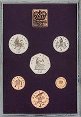 1980 Whole Coin Set UK Annual Proof - Standard 24032