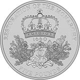 2010 UK Coin £5 / Crown Silver Proof Piedfort Restoration of the Monarchy 24770